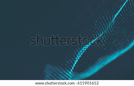 Abstract Blue Geometrical Background . Connection structure. Science background. Futuristic Technology HUD Element . ?onnecting dots and lines . Big data visualization and Business .