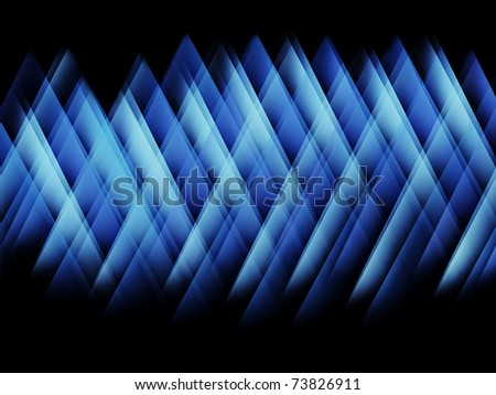 Abstract blue glowing strokes pattern on black - stock photo