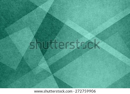 abstract blue green background. Lines and geometric shapes layered in white and gray. - stock photo