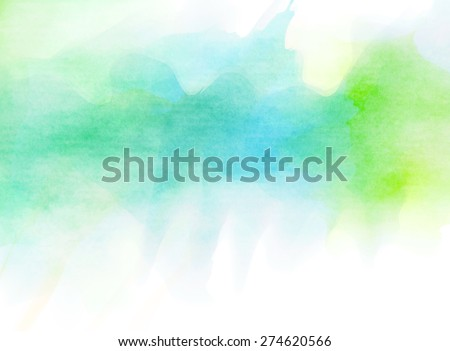 Abstract blue green watercolor background.  - stock photo