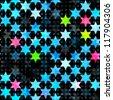 abstract blue grunge star seamless (raster version) - stock photo