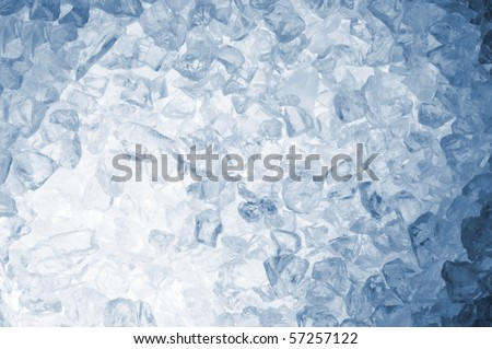 abstract blue ice cube background for a hot summer - stock photo