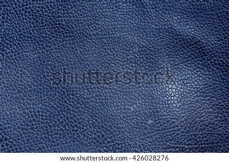 Abstract blue leather texture. Background and texture for design. - stock photo
