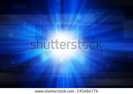 abstract blue light and square background