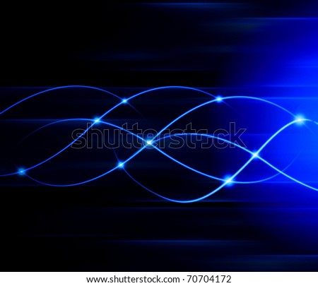 Abstract blue line background - stock photo