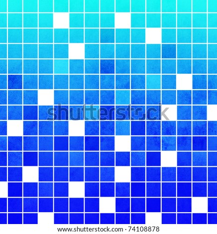 Abstract blue mosaic background