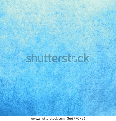 Abstract blue painted watercolor cloud, sky or splashes - stock photo