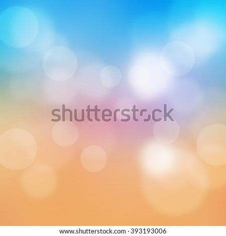 abstract blue, pink and orange summer sunset background