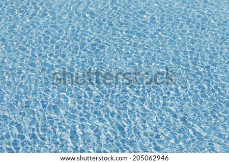 Abstract blue pool water - stock photo