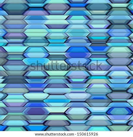 abstract blue purple lavender backdrop fragmented - stock photo