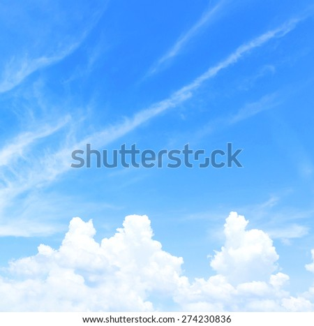 Abstract blue sky and clouds.