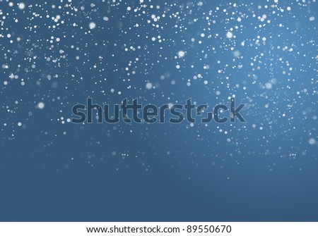 Abstract blue Snowflake background - stock photo