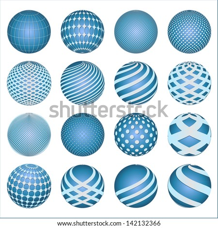 abstract blue Spheres