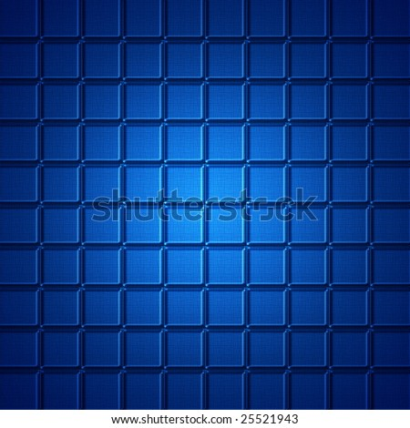 Abstract blue square background computer generated.