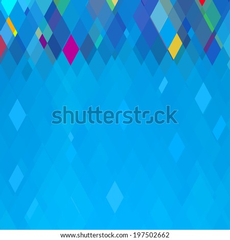 Abstract Blue Square Geometrical Background,   Raster Version - stock photo
