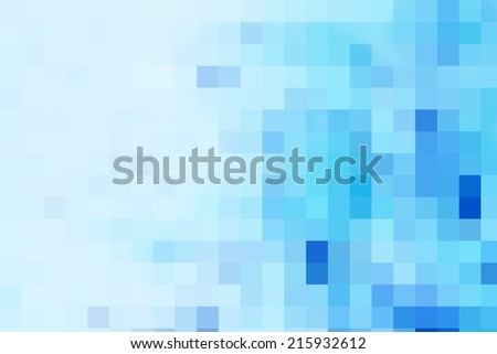 Abstract Blue Squares 2 - stock photo