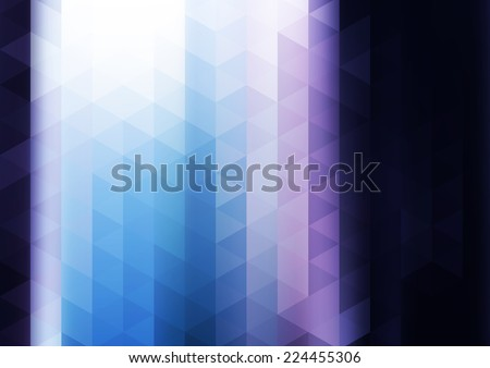 Abstract blue tech mosaic background. Rasterized version - stock photo