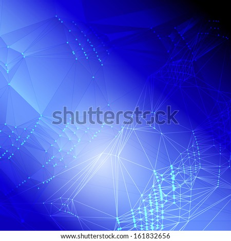 Abstract Blue Techno Background. - stock photo