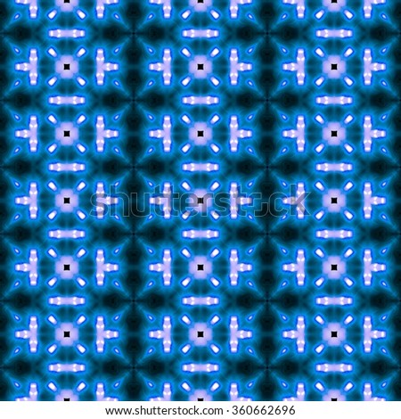 Abstract blue vintage paisley ornament. Seamless pattern or textures. Kaleidoscopic orient  style