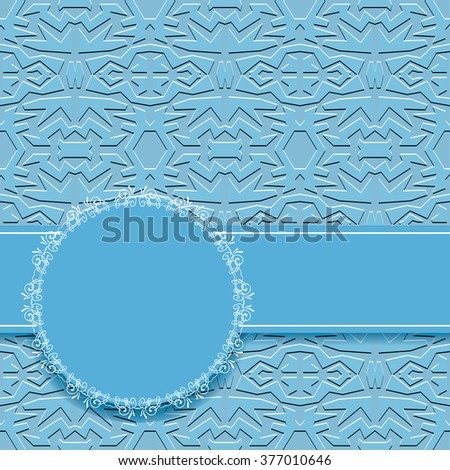 abstract  blue wallpaper with circles frame - stock photo