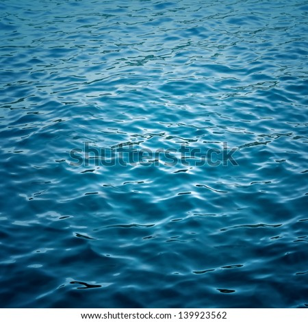 Abstract blue water sea for background  - stock photo