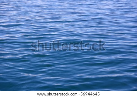Abstract blue water sea, good for background - stock photo