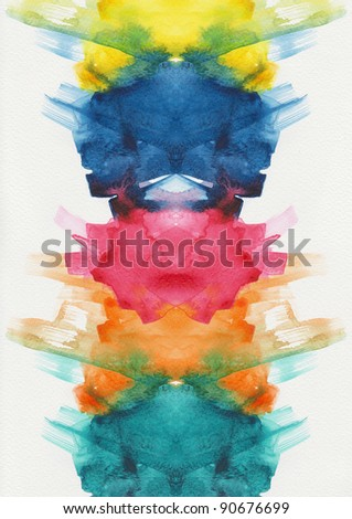 Abstract blue watercolors high resolution - stock photo