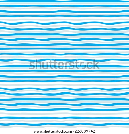 Abstract blue wave seamless pattern. Raster version - stock photo