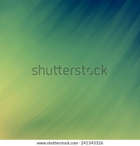 abstract blue yellow background, faded blurred streaks of paint in diagonal pattern - stock photo