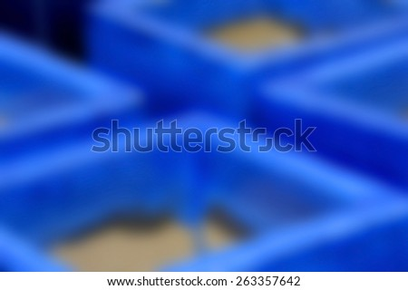 Abstract Blur Background Image of Square Blue Pottery - stock photo