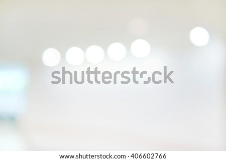 Abstract blur background with bokeh of Art gallery or museum. - stock photo