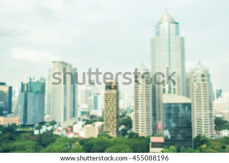 Abstract blur bangkok city for background