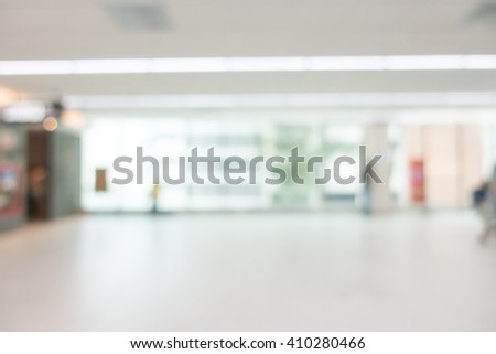 Abstract blur beautiful luxury airport interior for backgounrd - stock photo