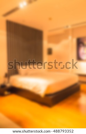 Abstract blur beautiful luxury bedroom interior to be used for background