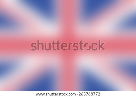 abstract blur british flag background - stock photo