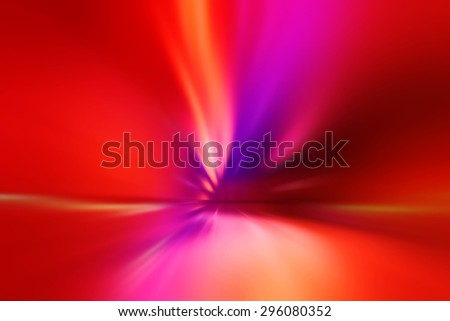 Abstract Blur Car Traffic Tunnel with Light Trails as Background - stock photo