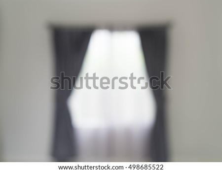 abstract blur curtain interior decoration on wall in living room