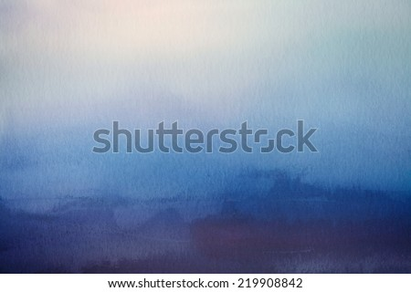 Abstract blur nature background. Watercolor paper overlay. - stock photo