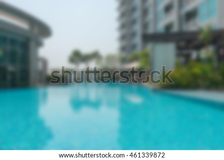 Abstract blur Outdoor swimming pool