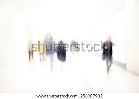 abstract blur people background - stock photo