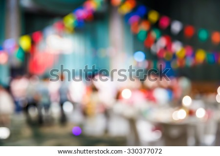 Abstract blur people in party, sociability lifestyle concept - stock photo