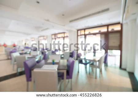 Abstract blur restaurant and cafe interior for background