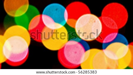 Abstract Blur Shot in Manual Mode with Bokeh - stock photo