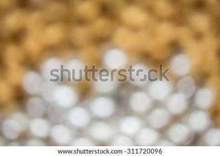 Abstract blur silver and gold pearls background - stock photo