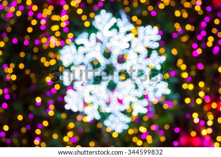 Abstract blur snowflakes on background. - stock photo