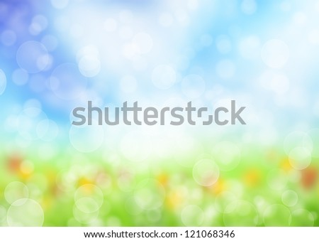 Abstract blur spring background - stock photo