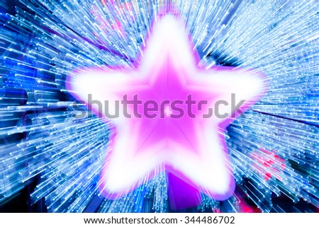 Abstract blur star x-mas on background. - stock photo
