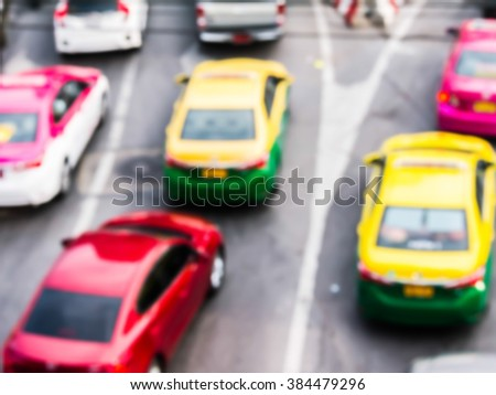 abstract blur traffic jam on the highway. - stock photo