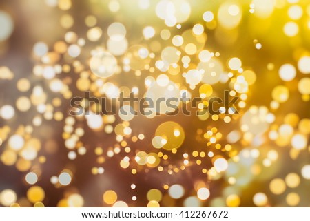 abstract blurred and silver glittering shine bulbs lights background