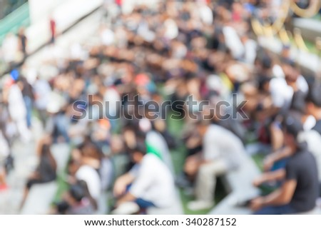 Abstract blurred background of crowd people in b-boy breakdances battle at dance competitions.